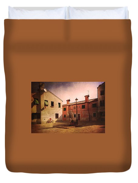 Duvet Cover featuring the photograph Malamocco Corner No2 by Anne Kotan