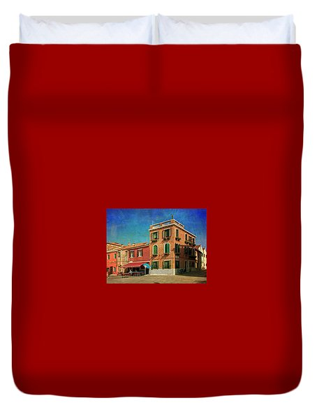 Duvet Cover featuring the photograph Malamocco Corner No3 by Anne Kotan