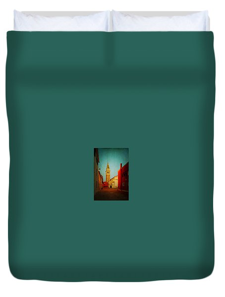Duvet Cover featuring the photograph Malamocco Dusk No1 by Anne Kotan