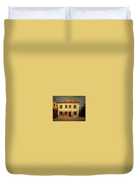 Duvet Cover featuring the photograph Malamocco House No1 by Anne Kotan