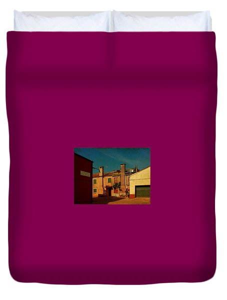 Duvet Cover featuring the photograph Malamocco House No2 by Anne Kotan