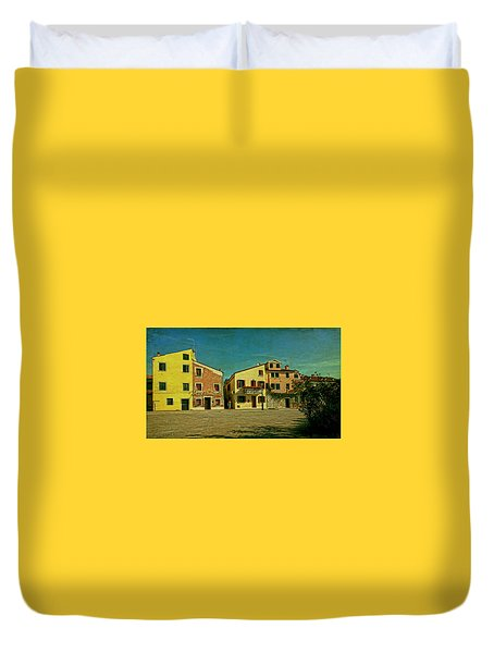 Duvet Cover featuring the photograph Malamocco Main Street No1 by Anne Kotan