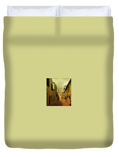 Duvet Cover featuring the photograph Malamocco Perspective No1 by Anne Kotan