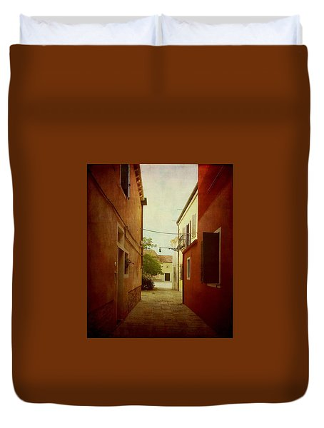 Duvet Cover featuring the photograph Malamocco Perspective No2 by Anne Kotan