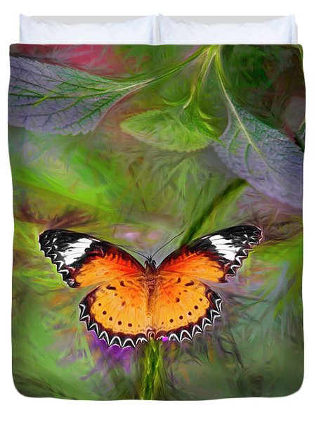 Malay Lacewing  What A Great Place Duvet Cover