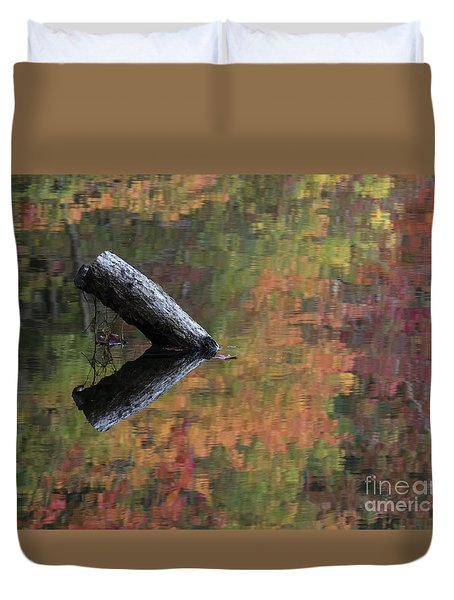 Malbourn Pond Abstract Duvet Cover