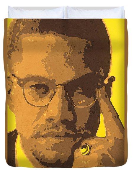 Malcolm El Afroxicano Duvet Cover by Roberto Valdes Sanchez