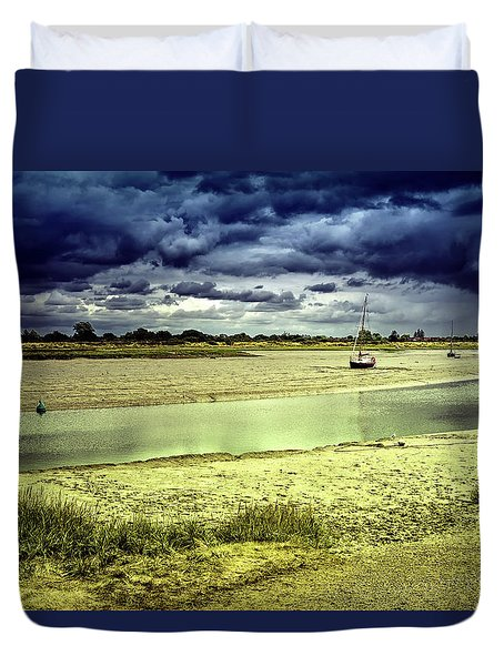 Maldon Estuary Towards The Sea Duvet Cover