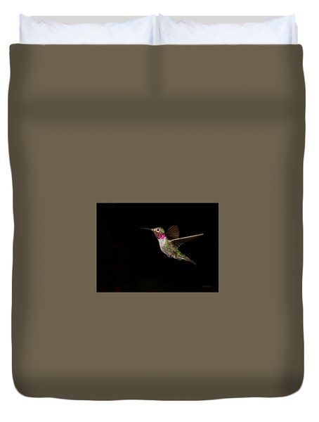 Male Broad-tailed Hummingbird Duvet Cover
