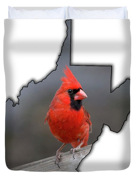 Male Cardinal One Of The Most Recognizable Birds Duvet Cover