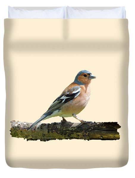 Male Chaffinch, Transparent Background Duvet Cover