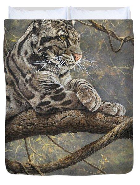 Male Clouded Leopard Duvet Cover