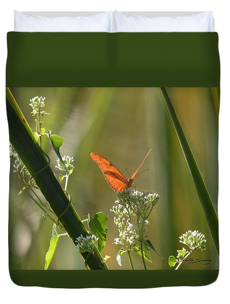 Male Julia Heliconia Butterfly Duvet Cover