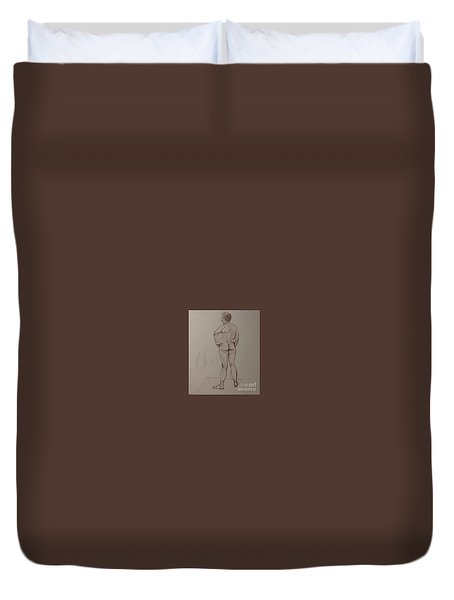 Male Life Drawing Duvet Cover