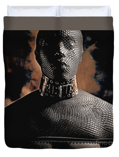 Male Masked Duvet Cover