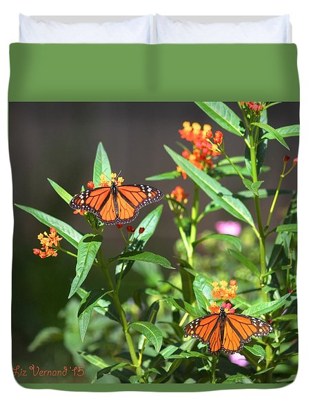 Male Monarch Butterflies Duvet Cover