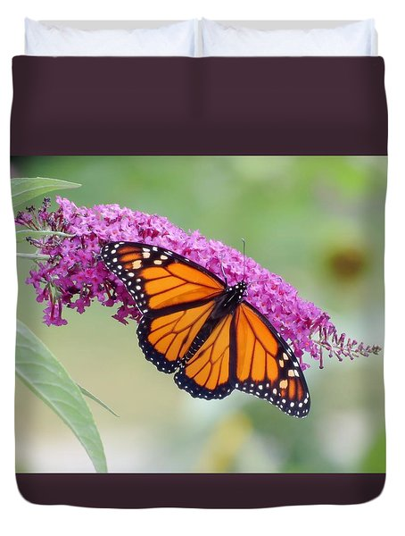 Male Monarch Butterfly Duvet Cover by MTBobbins Photography