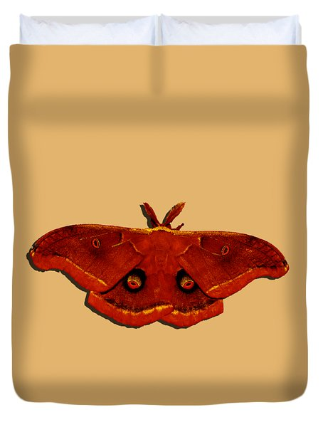 Duvet Cover featuring the photograph Male Moth Red .png by Al Powell Photography USA