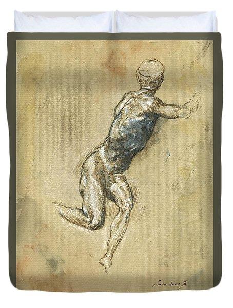 Male Nude Figure Duvet Cover