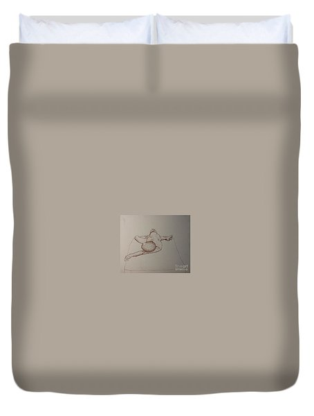 Male Nude Life Drawing Duvet Cover