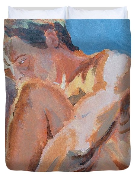 Male Nude Painting Duvet Cover