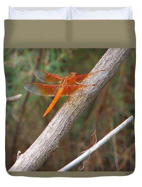 Male Skimmer Dragonfly Duvet Cover