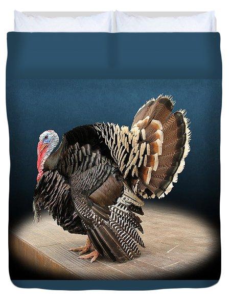 Male Turkey Strutting Duvet Cover