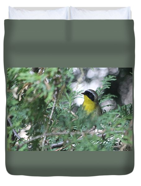Male Yellowthroat Warbler Duvet Cover