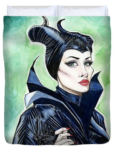 Maleficent Duvet Cover by Jimmy Adams
