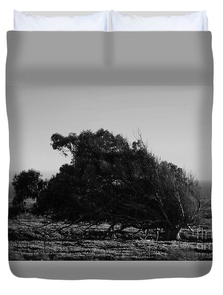 Duvet Cover featuring the photograph Malformed Treeline by Clayton Bruster