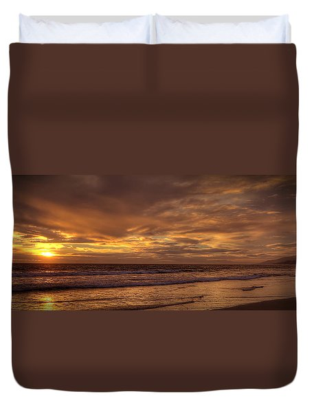 Malibu Gold Duvet Cover
