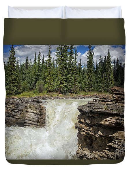 Duvet Cover featuring the photograph Maligne Canyon by Patricia Hofmeester