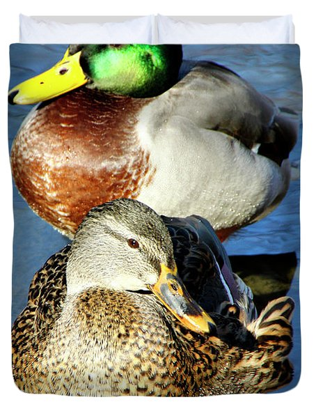 Mallard Couple Duvet Cover