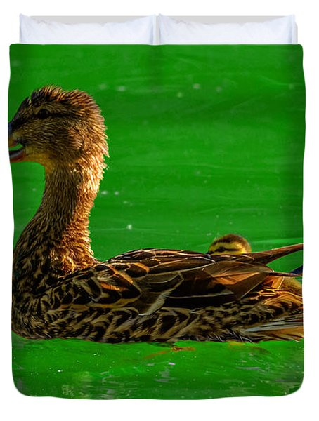 Mallard Mom 2 Duvet Cover