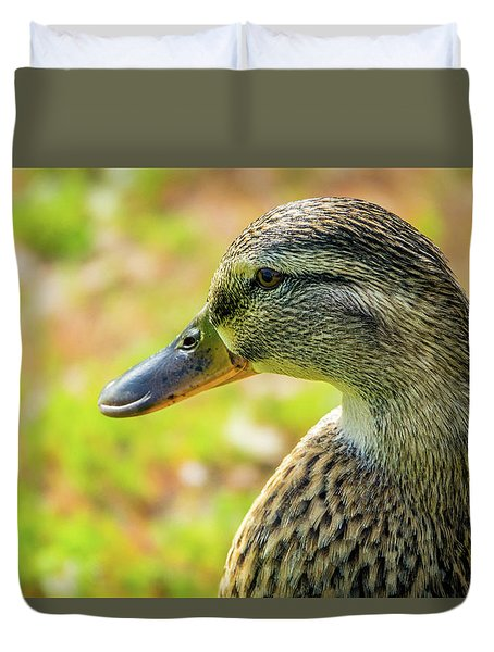 Mallard Portrait - Female Duvet Cover