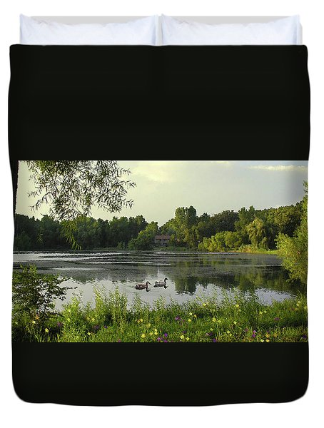 Mallards Lake II Duvet Cover