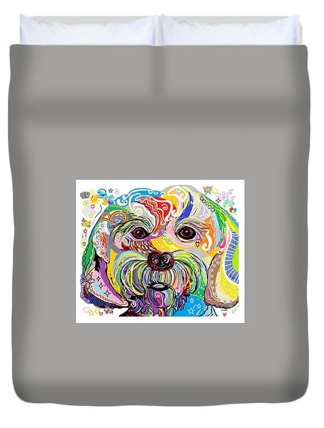 Maltese Puppy Duvet Cover