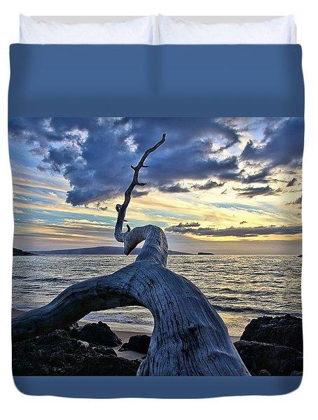 Maluaka Beach Sunset Duvet Cover