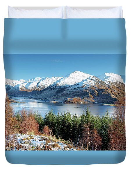 Duvet Cover featuring the photograph Mam Ratagan by Grant Glendinning