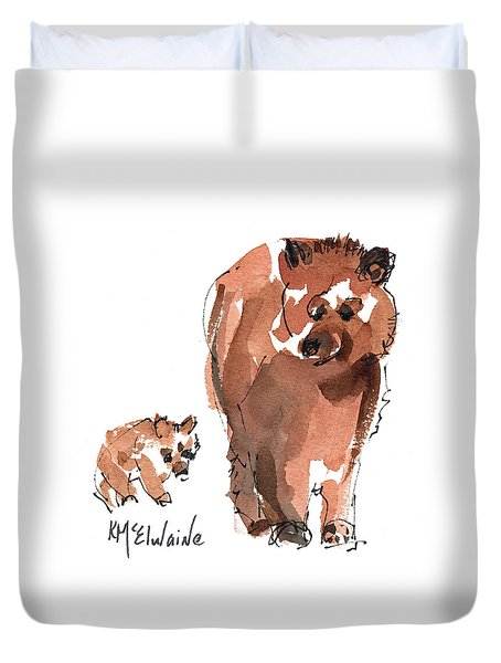 Mama And Baby Series Bear Duvet Cover