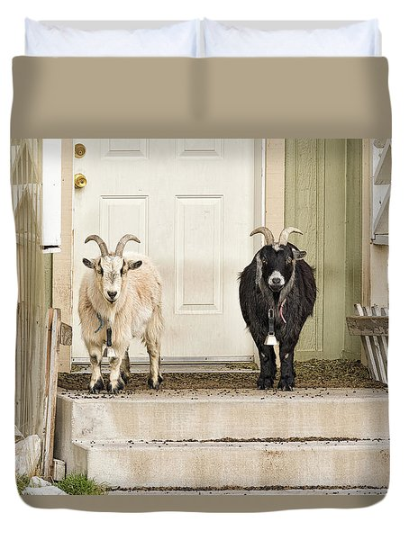 The Goat Guard Duvet Cover