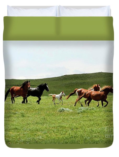 Mama's Little Foal Duvet Cover