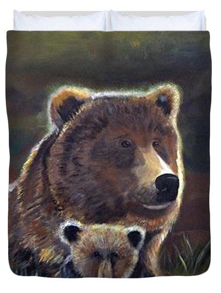 Mammas Warmth Duvet Cover by Leslie Allen