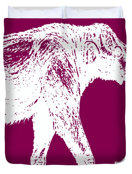 Mammoth White Ink Tee Duvet Cover
