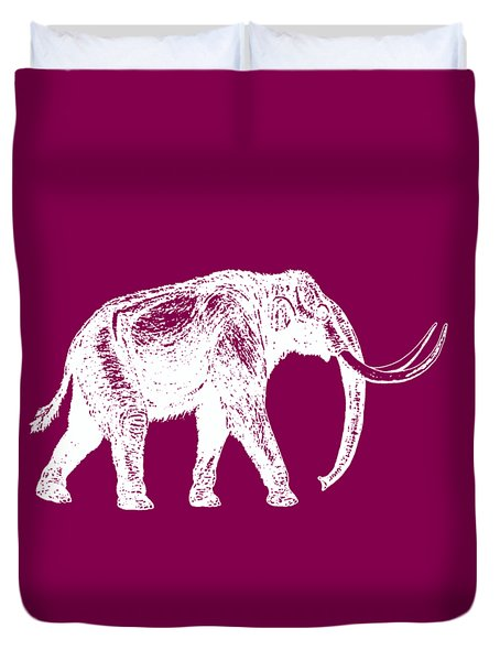 Mammoth White Ink Tee Duvet Cover by Edward Fielding