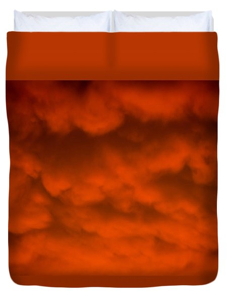 Mammutus Clouds Sunset Duvet Cover by Bruce Pritchett