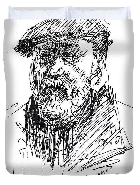 Man In A Hat Duvet Cover