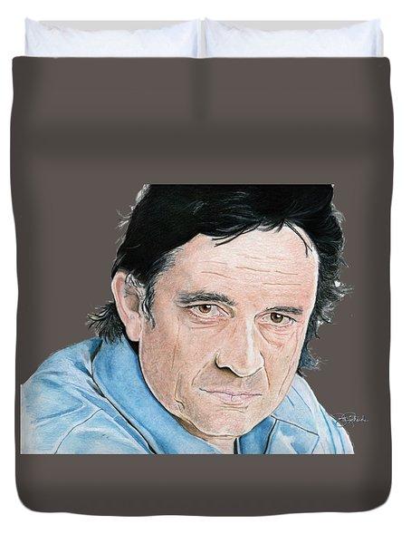 Man In Black Duvet Cover