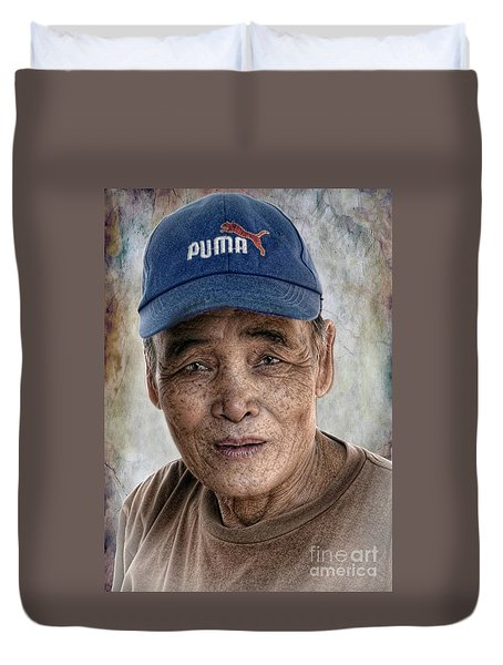 Man In The Cap Duvet Cover