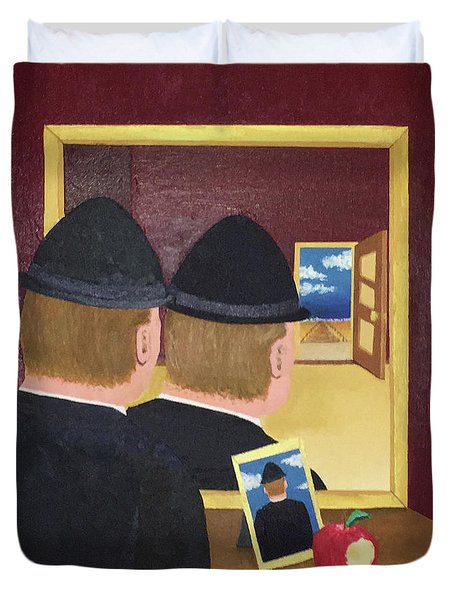 Man In The Mirror Duvet Cover